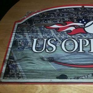 MANCAVE Wall Art - U.S. OPEN TENNIS Open Stadium Wooden Sign 17 X 11
